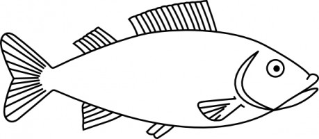 Clipart Black And White Fish Clipart