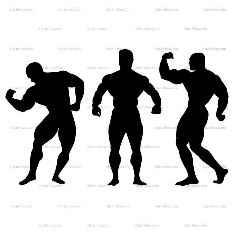 Clipart Bodybuilding Pose Royalty Free Vector Design