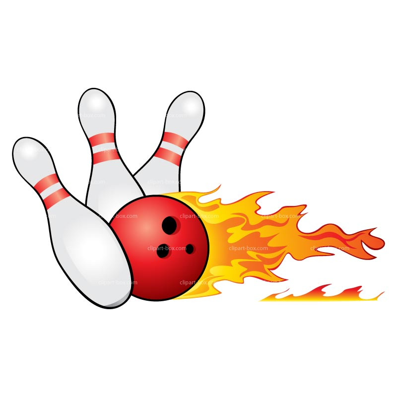 Clipart Bowling Fire Royalty Free Vector Design