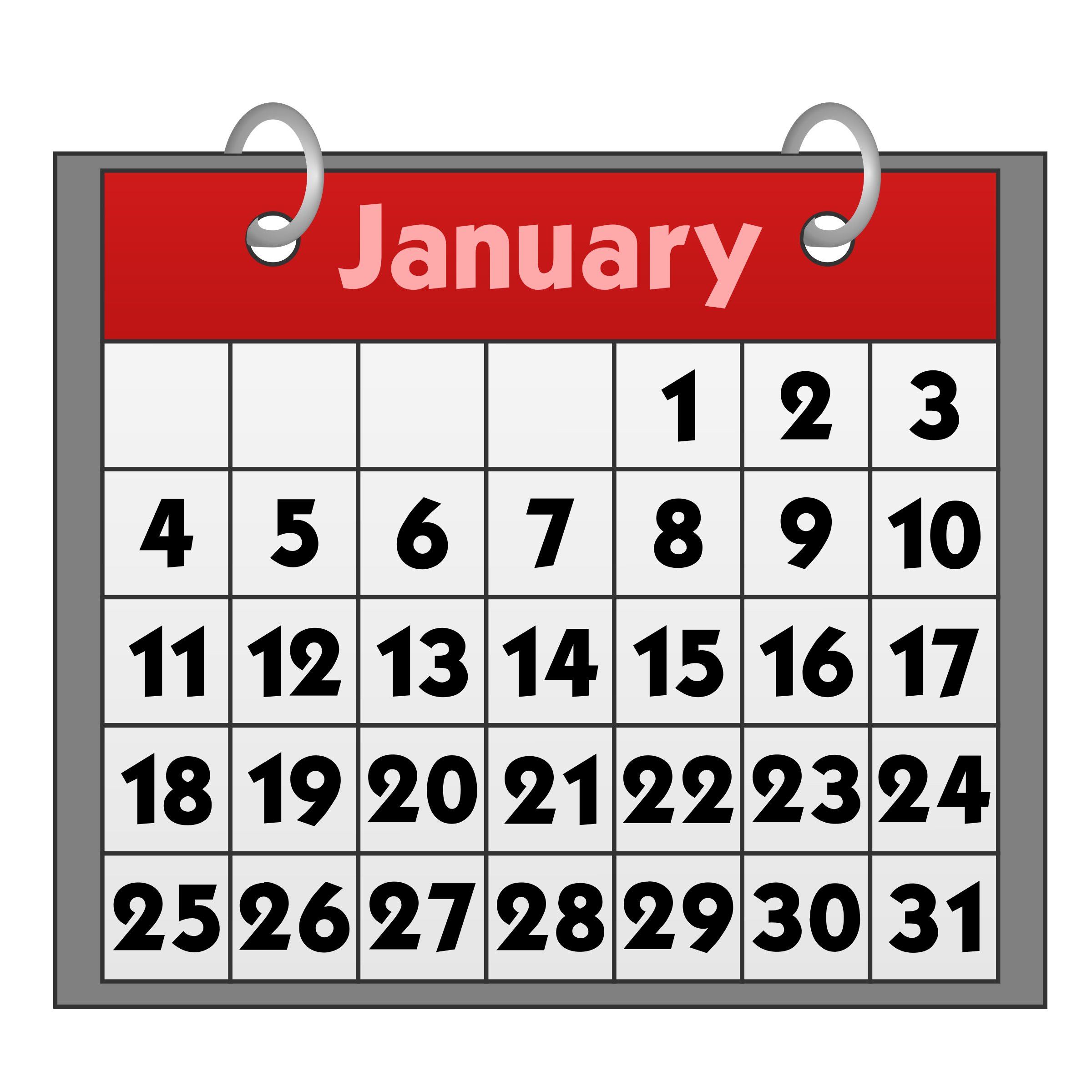 Clipart. Calendar free to use cliparts 2