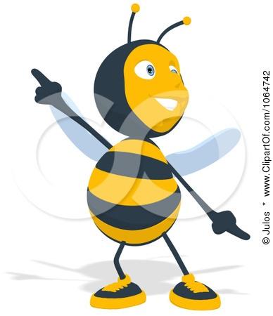 Clipart Cartoon Bee Dancing - Royalty Free CGI Illustration by Julos