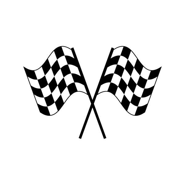 Clipart; Checkered Flag .