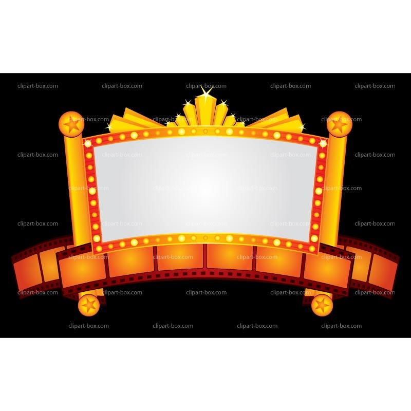 Clipart Cinema Neon Banner .