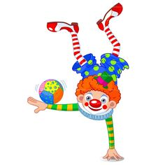 Clipart clown acrobat free vector design clowns