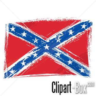 CLIPART CONFEDERATE FLAG - .
