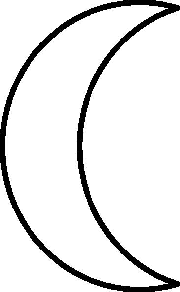 Clipart crescent moon - .