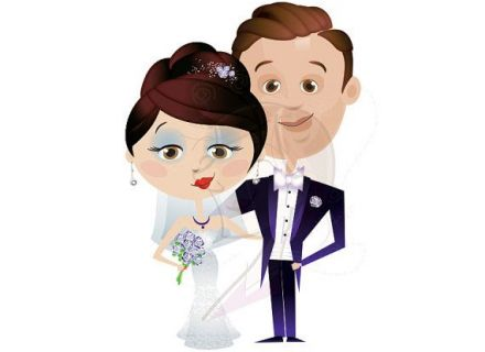 Clipart Cute Bridal Wedding Party by Inkee Doodles, $600, #wedding