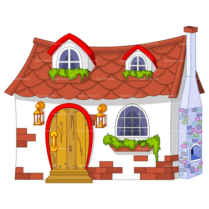 Clipart Cute House Royalty Free Vector Design