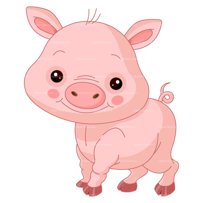 Clipart Cute Pig Royalty Free Vector Design