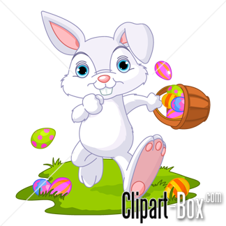 CLIPART EASTER BUNNY RUNNING