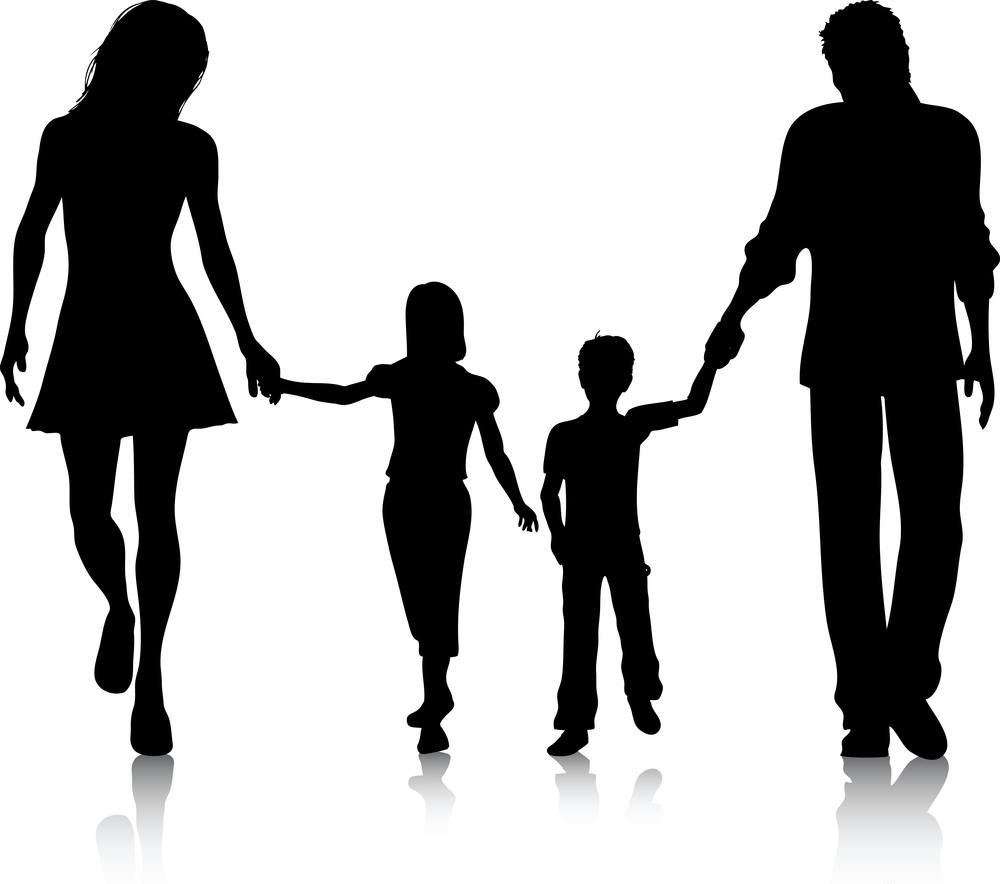 Clipart family of 5 clipartall