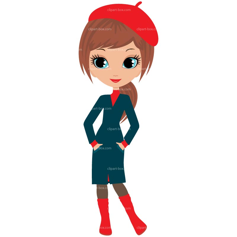 Clipart Fashion Lady Royalty Free Vector Design