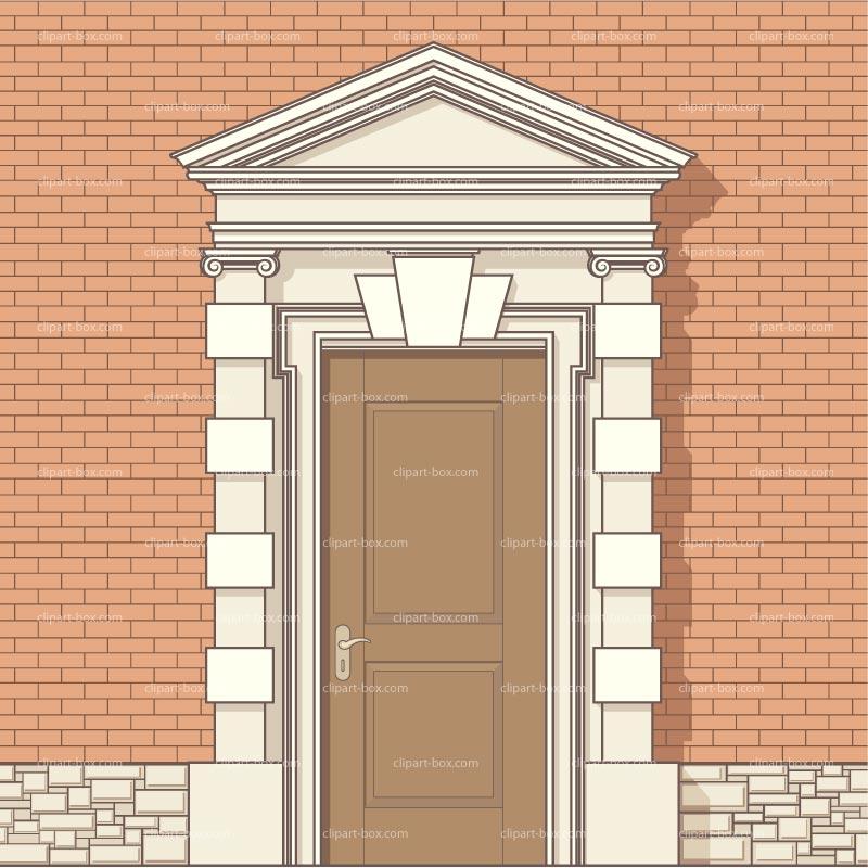 Clipart Front Door Royalty Free Vector Design