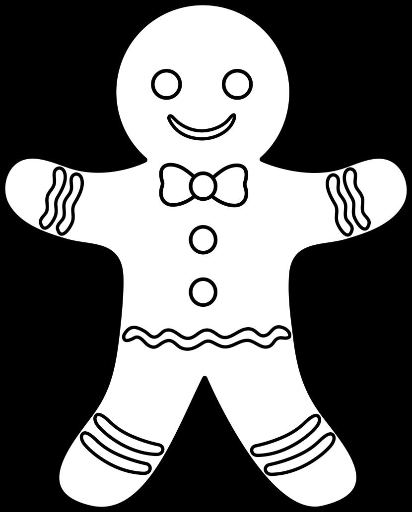clipart gingerbread man
