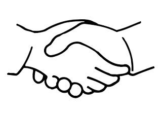 Clipart Handshake Free .