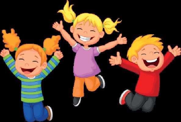 Clipart happy kids transparent - ClipartFest