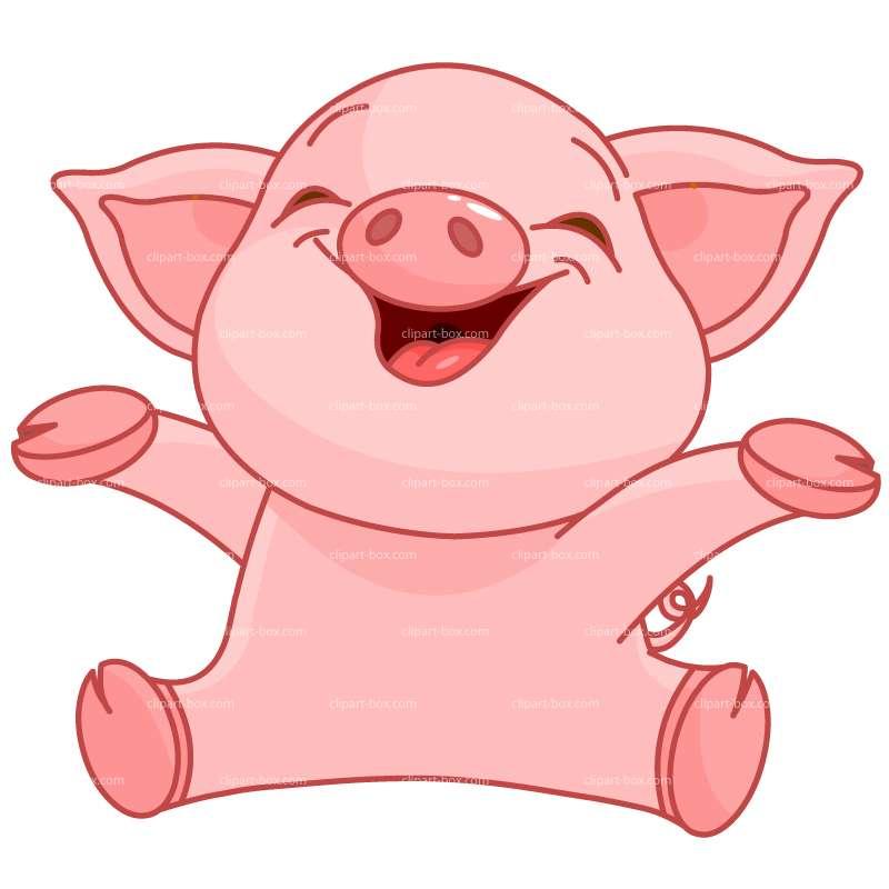 Clipart Happy Piggy Royalty Free Vector Design