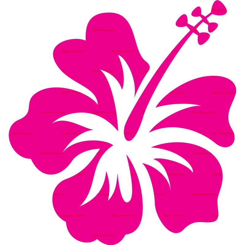 Clipart Hibiscus Royalty Free Vector Design