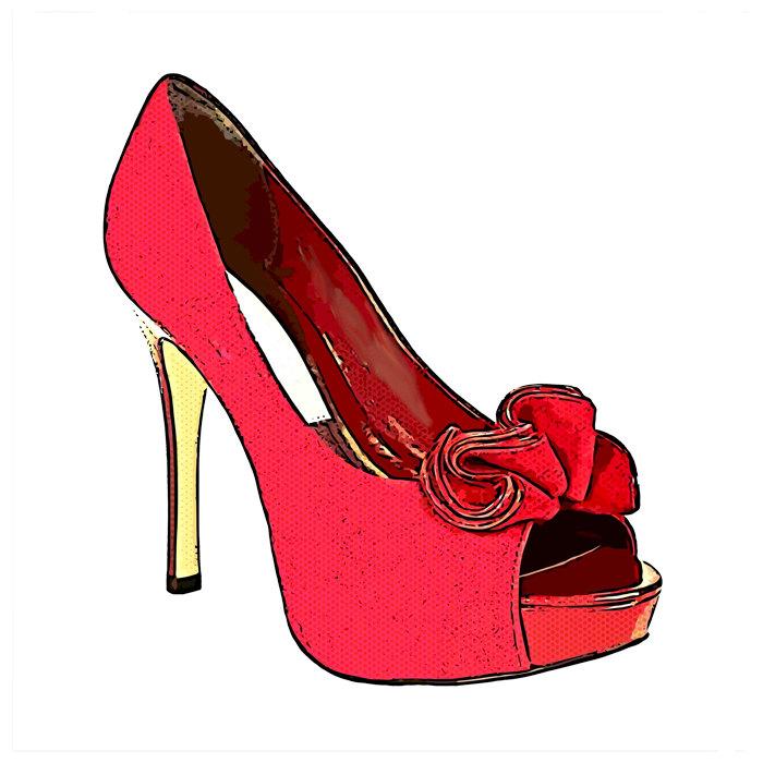 Clipart high heels red shoe clipartall 2