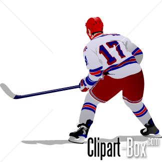 CLIPART HOCKEY PLAYER