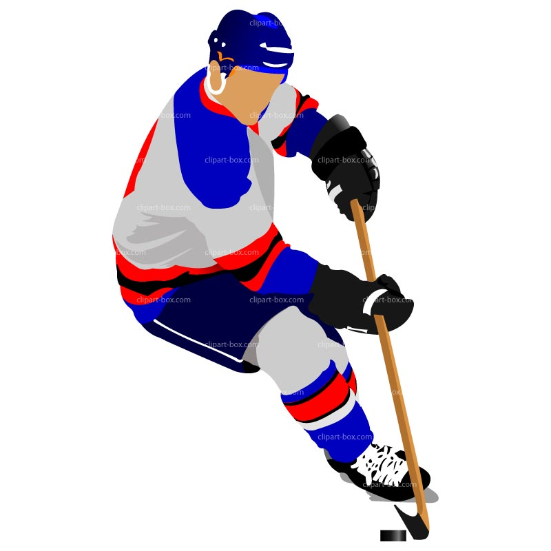 Clipart Hockey Player Royalty Free Vector Design