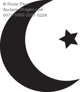 Clipart Illustration of an Islamic Religious Symbol