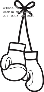 Clipart Illustration of Boxing Gloves