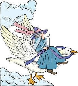 Clipart Illustration of Mother Goose