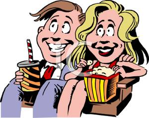 Clipart Image Of A Couple In A Movie Theater