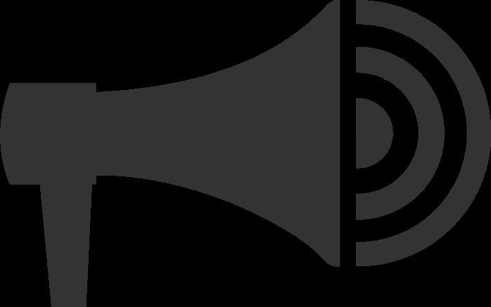 Clipart megaphone icon