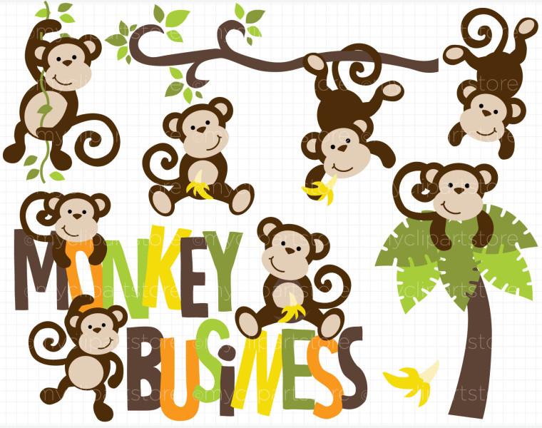 Clipart Monkey Business Dc 8835