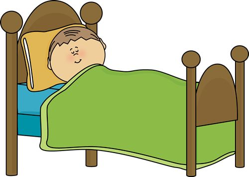 clipart of childu0026#39;s bed | Child Sleeping Clip Art Image - child sleeping in a bed