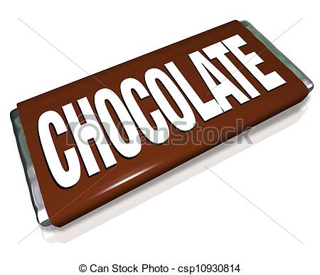 Clipart of Chocolate Candy Bar .