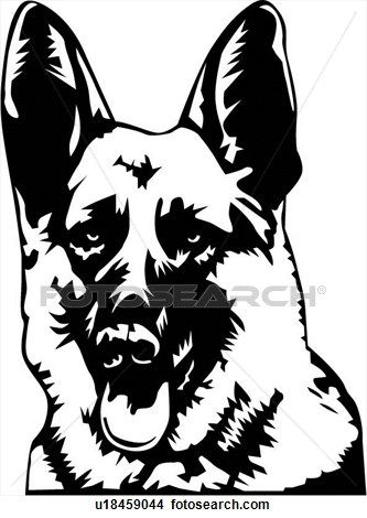 Clipart of German Shepherd02 u18459044 - Search Clip Art, Illustration Murals, Drawings and Vector