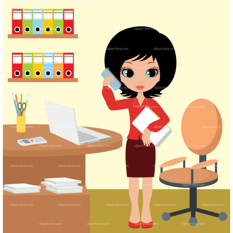 Clipart Office Girl Royalty Free Vector Design
