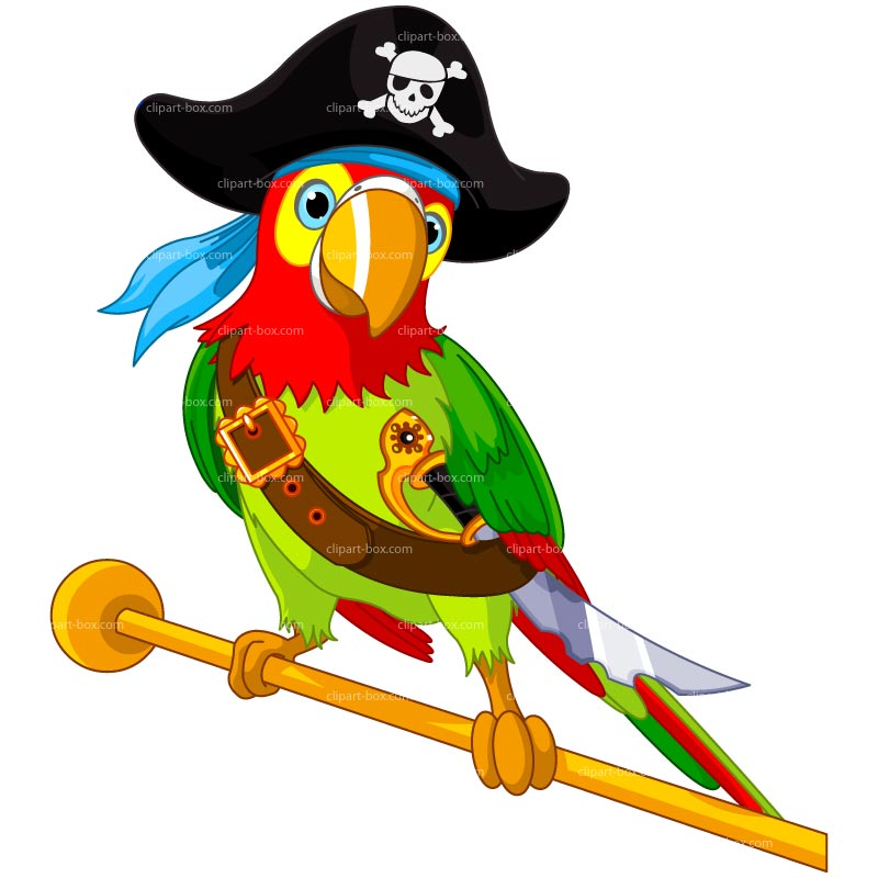 Clipart Pirate Parrot Royalty Free Vector Design