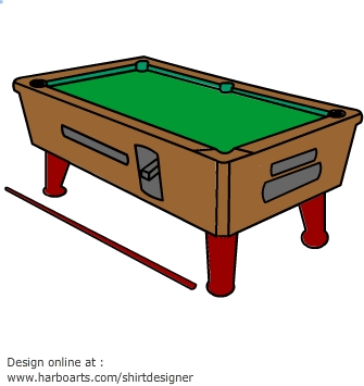 Clipart Pool Table. Pool table - Vector Graphic