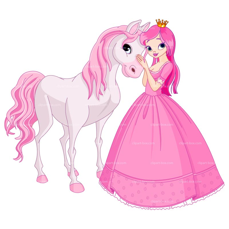 Clipart Princess And Horse Royalty Free Vector Design