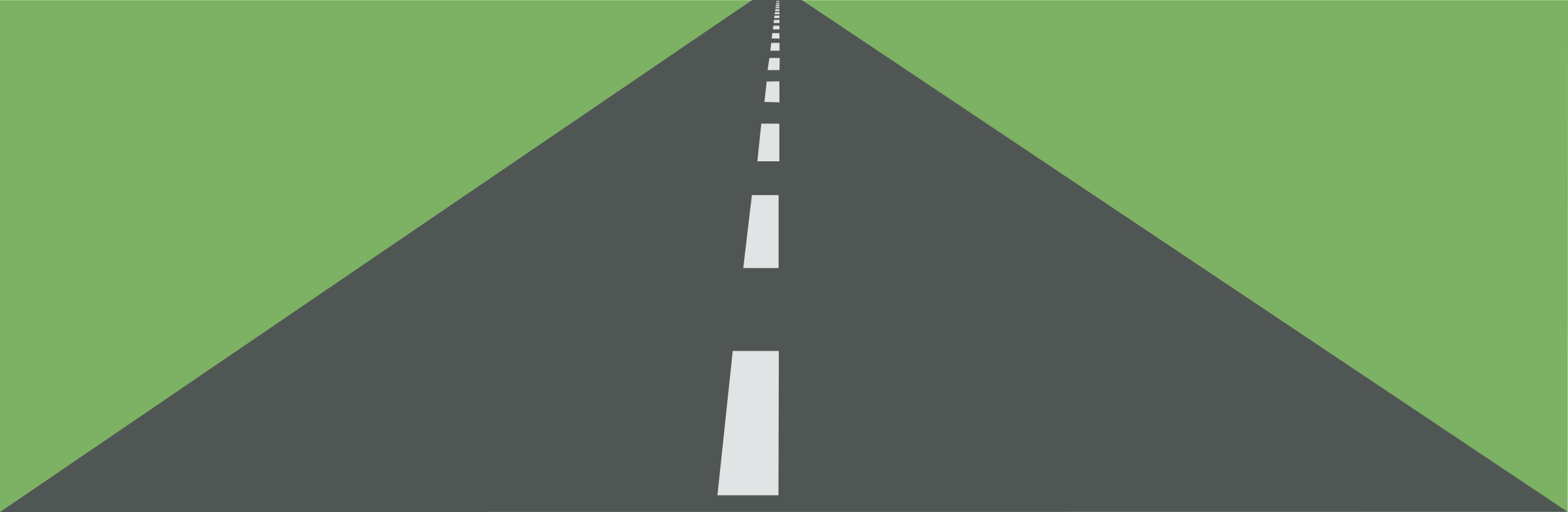 Clipart road with landscape