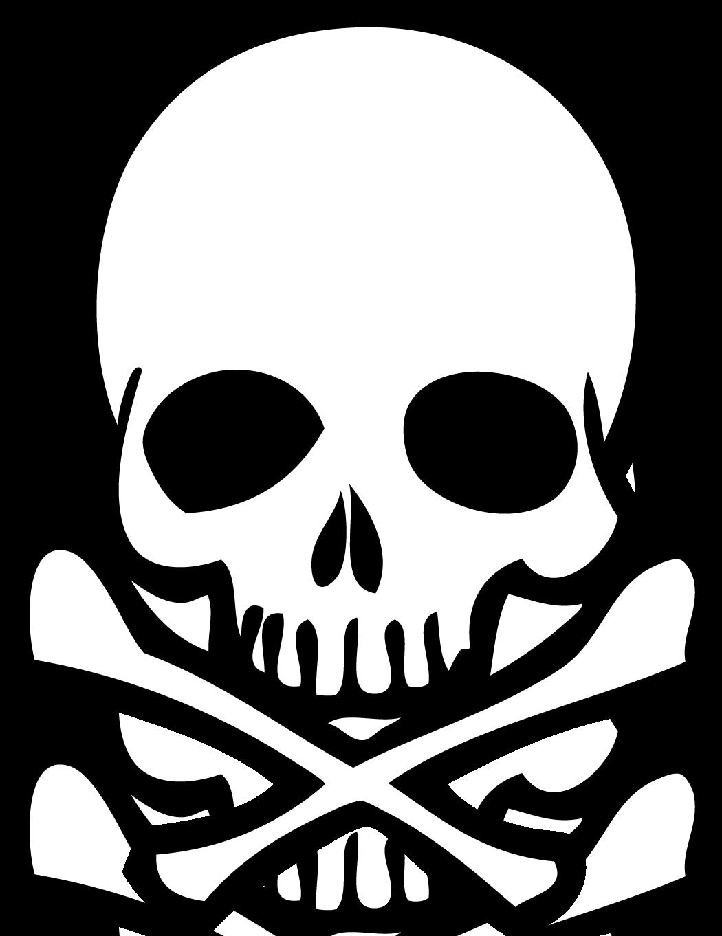 Clipart skull and bones - .