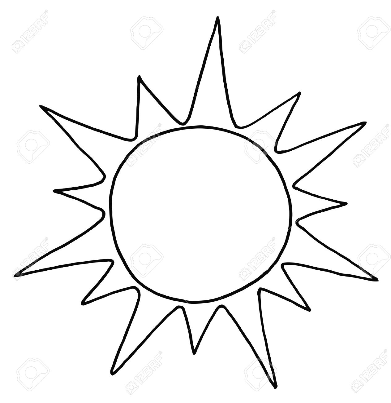 Clipart sun black and white - .