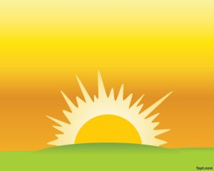 Clipart Sunset