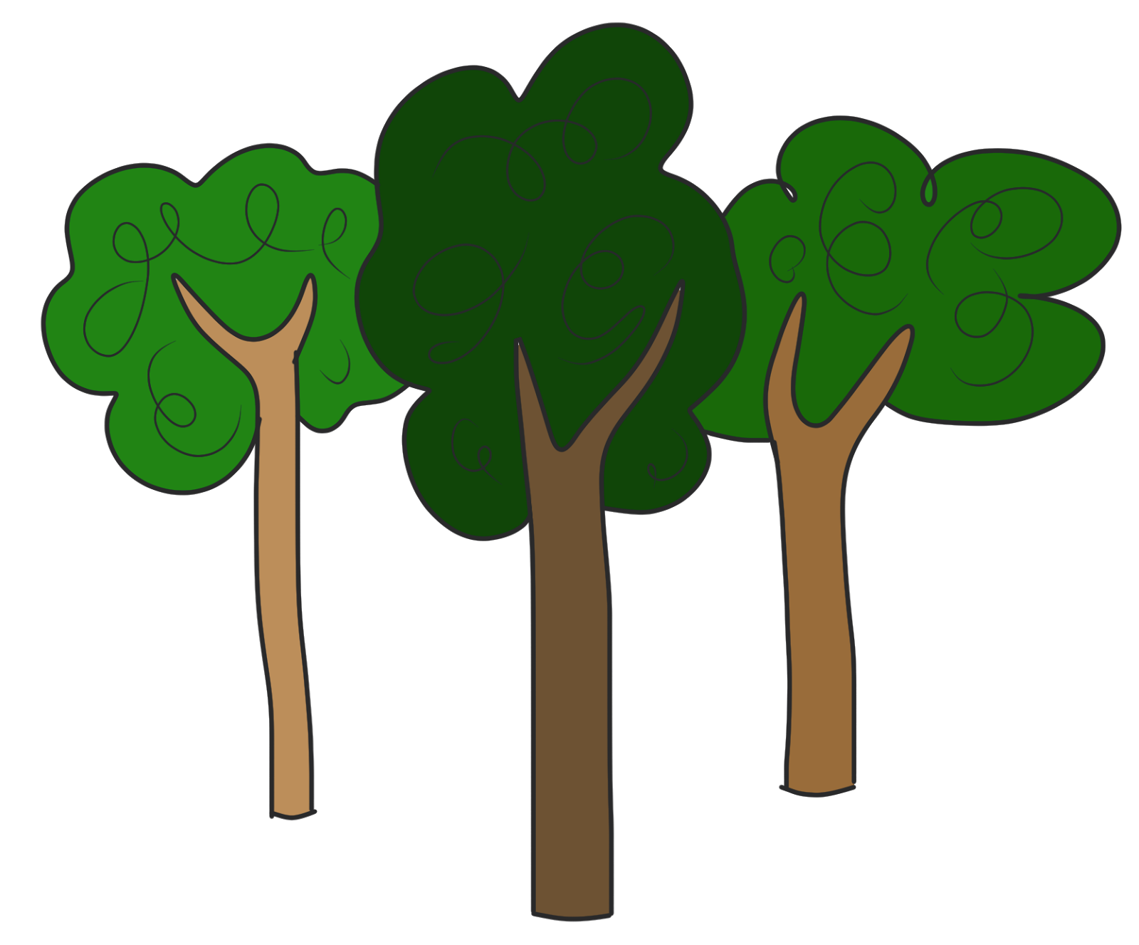 Clipart trees clipart
