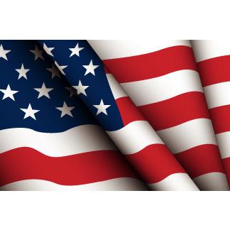 CLIPART USA WAVING FLAG