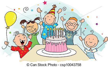 Clipart Vector Of Birthday .