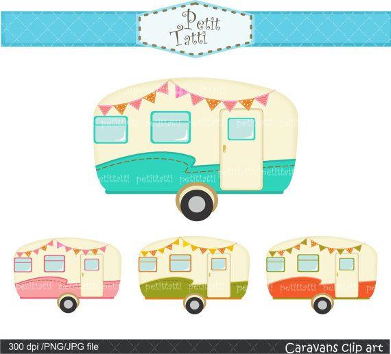 Clipart Vintage Caravan .