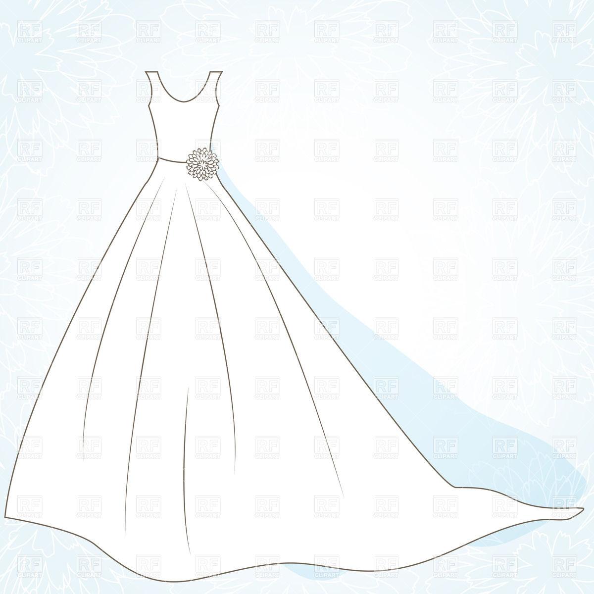 Clipart Wedding Dress Clipart ClipartFest