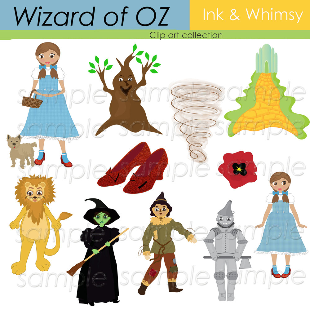 Clipart Wizard Of Oz Digital Clip Art Instant By Inkandwhimsy2