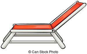 Clipartby almoond19/923; Beach chair - Close up red beach chair