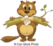 ... Clipartby colematt8/320; Cartoon Character Beaver Isolated on White Background.